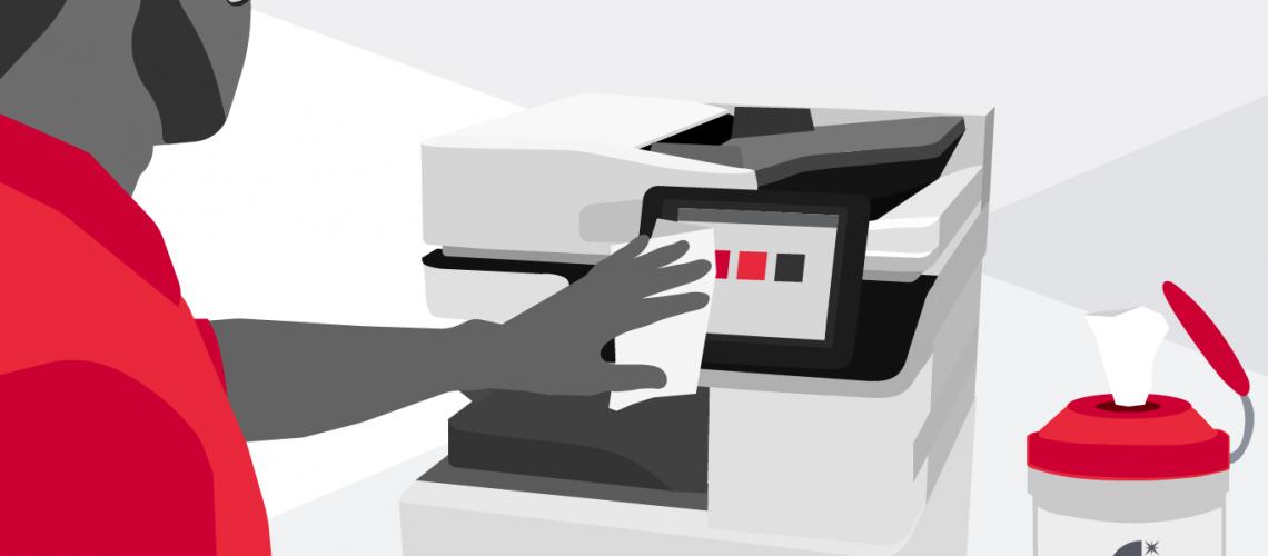 come sanificare stampante multifunzione